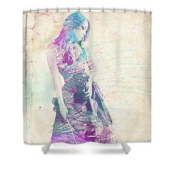 Viva La Vida Shower Curtain by Linda Lees