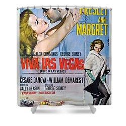 Viva Las Vegas Shower Curtain by Georgia Fowler