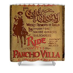 Viva Revolucion - Pancho Villa Shower Curtain by Richard Reeve