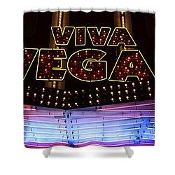 Viva Vegas Neon Shower Curtain by Bob Christopher