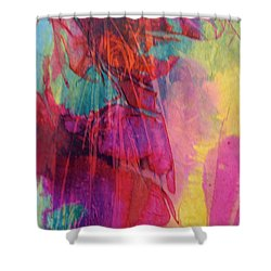 Shower Curtain featuring the painting Vivace by Mary Sullivan
