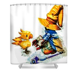 Vivi And The Chocobo Shower Curtain