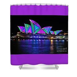 Vivid Sydney By Kaye Menner - Opera House... Patterns 2 Shower Curtain by Kaye Menner