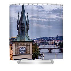 Vltava River In Prague Shower Curtain