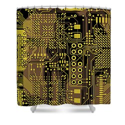 Vo96 Circuit 5 Shower Curtain by Paul Vo