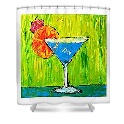 Vodka Martini Collection Bar Decor - Modern Art Shower Curtain