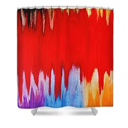 Shower Curtain featuring the painting Voice by Michael Cross