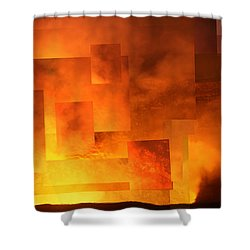 Volcanic Fire - Kilauea Caldera  Shower Curtain
