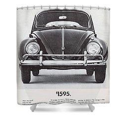Volkswagen Beetle Shower Curtain by Georgia Fowler