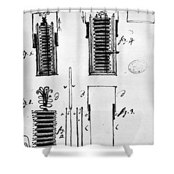 Voltaic Pile, 1801 Shower Curtain by Granger