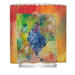 Shower Curtain featuring the painting Voluptuous by PainterArtist FIN