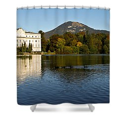 Shower Curtain featuring the photograph Von Trapp's Mansion by Silvia Bruno