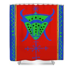 Voodoo Bosou Shower Curtain by Vagabond Folk Art - Virginia Vivier