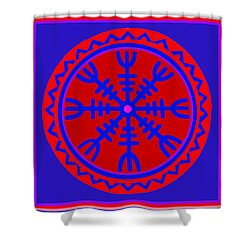 Voodoo Helm Of Awe Shower Curtain by Vagabond Folk Art - Virginia Vivier