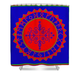Voodoo Veve  As Above So Below Shower Curtain by Vagabond Folk Art - Virginia Vivier
