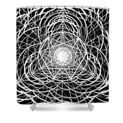 Shower Curtain featuring the drawing Vortex Equilibrium by Derek Gedney