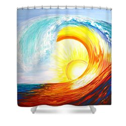 Vortex Wave Shower Curtain