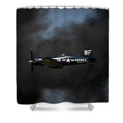 Vought F4u Corsair Shower Curtain by Adam Romanowicz