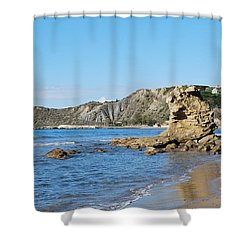 Shower Curtain featuring the photograph Vouno 2 by George Katechis