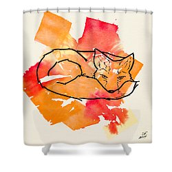 Vulpes Vulpes Shower Curtain