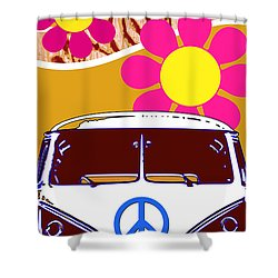 Vw Beach  Tan Shower Curtain