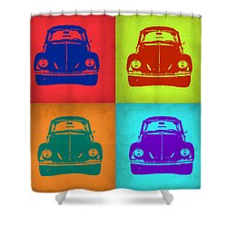 Vw Beetle Pop Art 5 Shower Curtain by Naxart Studio