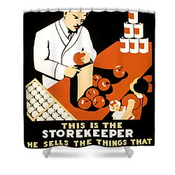 W P A  Food Hygiene Poster C. 1937 Shower Curtain by Daniel Hagerman