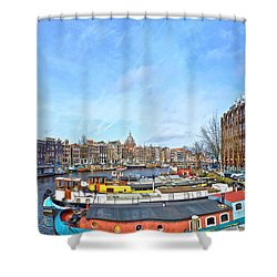 Waalseilandgracht Amsterdam Shower Curtain