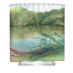 Shower Curtain featuring the pastel Waccamaw Dreams by MM Anderson