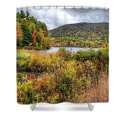 Wachusett Mt. In Autumn Shower Curtain