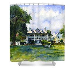 Wades Point Inn Shower Curtain by John D Benson