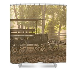 Wagon - Abe's Buggie Shower Curtain by Mike Savad