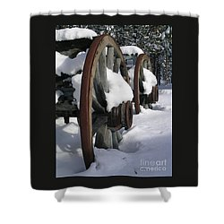 Shower Curtain featuring the photograph Wagons West by Jennifer Lake