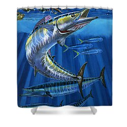 Wahoo Rip Off0047 Shower Curtain by Carey Chen