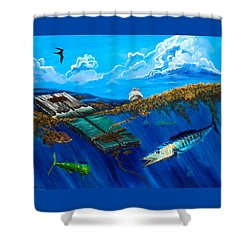 Wahoo Under Board Shower Curtain
