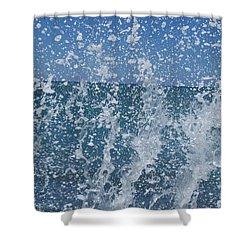#waikiki Backsplash Shower Curtain