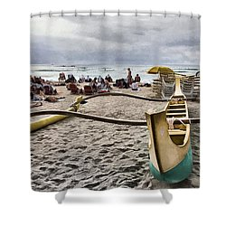 Waikiki Beach Hawaii Shower Curtain by Douglas Barnard