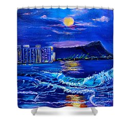 Waikiki Lights Shower Curtain