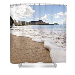 Waikiki Shore Shower Curtain by Brandon Tabiolo
