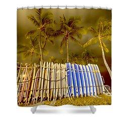 Waikiki Surf Shower Curtain by Douglas Barnard