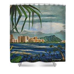 Waikiki View Shower Curtain
