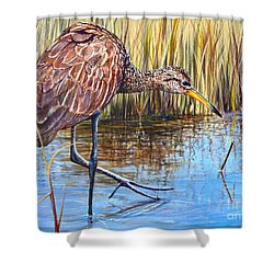 Wailing Bird Shower Curtain