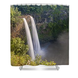 Wailua Falls - Kauai Hawaii Shower Curtain by Brian Harig