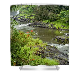 Wailuka River Shower Curtain by Bob Phillips