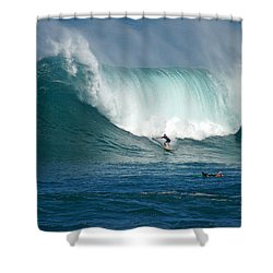 Waimea Bay Monster Shower Curtain by Kevin Smith
