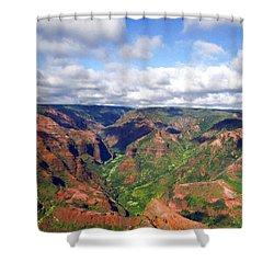 Shower Curtain featuring the photograph Waimea Canyon by Amy McDaniel