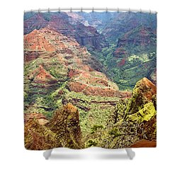 Waimea Canyon Shower Curtain by Scott Pellegrin