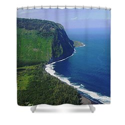 Waipio Valley Shower Curtain by Pamela Walton