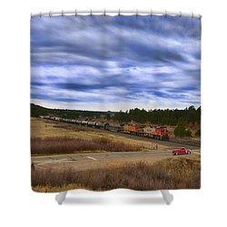 Waiting At The Gates Version 2 Shower Curtain by Ken Smith