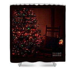 Waiting For Christmas - Square Shower Curtain